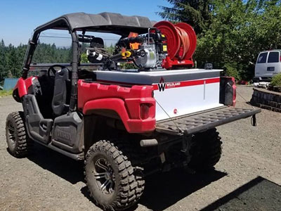 ATV and UTV slip on module firefighting equipment wildlands