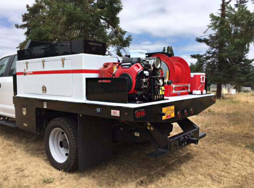 custom built firefighting module Wildland Products